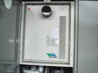 兵庫県神戸市須磨区 マンション ノーリツ 24号 ガス給湯器 高温水供給方式 PS扉内設置型 前方排気 取替交換工事 施工