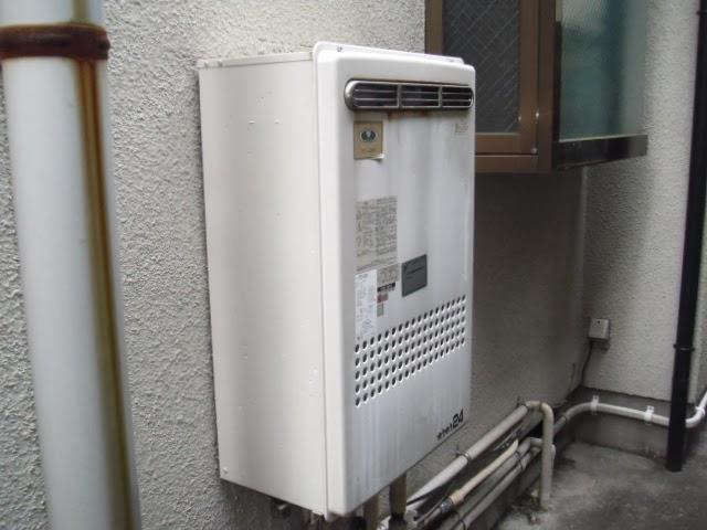兵庫県 尼崎市 戸建て住宅 ノーリツ 24号 ガス追いだき付き給湯器 屋外設置型 セミオートタイプ 取付交換工事施工
