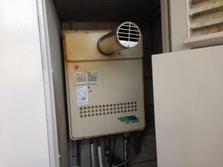 大阪府 高槻市 マンション ノーリツ 16号 ガスふろ給湯器 前方排気型 セミオート 取替交換工事施工