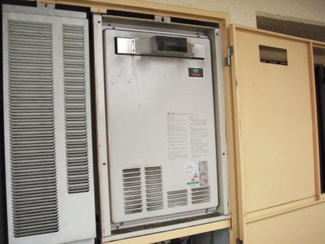 兵庫県 神戸市 北区 マンション ノーリツ 16号 ガスふろ給湯器 PS扉内設置 前方排気型 取替交換工事施工