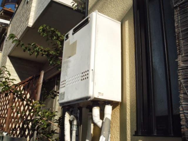 兵庫県 尼崎市 戸建て住宅 ノーリツ 24号 ガスふろ給湯器 セミオートタイプ 屋外設置型 取替交換工事 施工