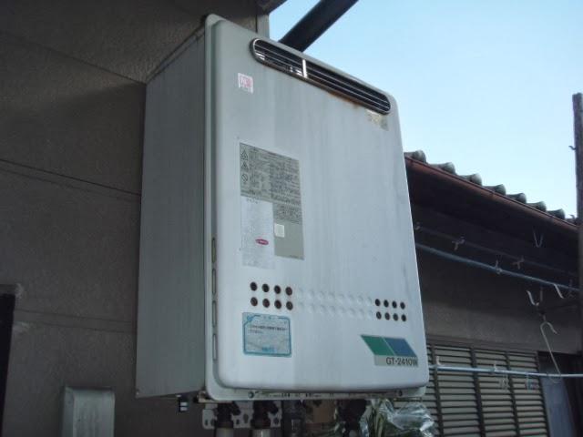 兵庫県 尼崎市 戸建て住宅 ノーリツ ガスふろ給湯器 24号 屋外壁掛け型 セミオートタイプ 取替交換工事 施工