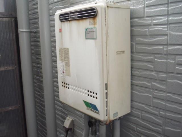 兵庫県 尼崎市 戸建て住宅 ノーリツ ガス追い焚き付き給湯器 セミオートタイプ 屋外設置型 取替交換工事施工