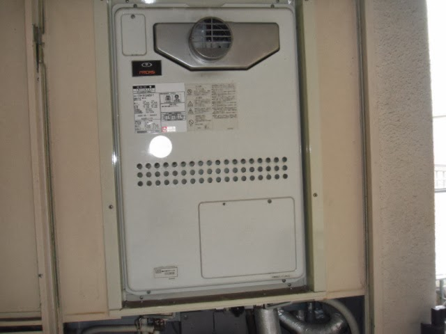 兵庫県 西宮市 マンション ノーリツ ガス温水暖房付きふろ給湯器 PS扉内設置 前方排気 取替交換工事 施工
