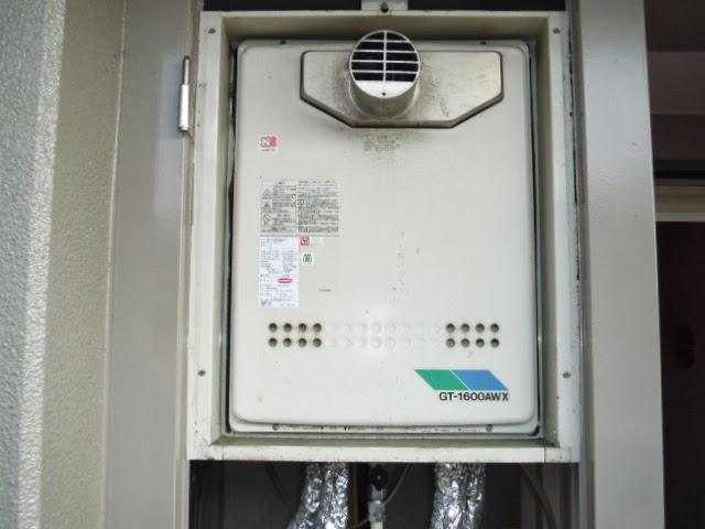 奈良県 北葛城郡 マンション ノーリツ 16号 ガス追い焚き付き給湯器 PS扉内設置型 前方排気 取替交換工事 施工