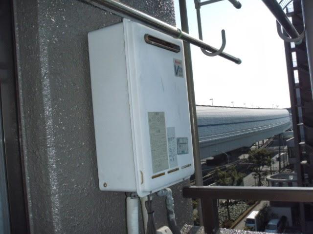 兵庫県 西宮市 甲子園 マンション リンナイ 20号 ガス給湯器 屋外壁掛け型 取替交換工事 施工
