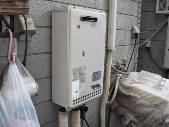 兵庫県 神戸市 中央区 戸建て住宅 ノーリツ ガス給湯器 24号 屋外壁掛け型 取替交換工事施工