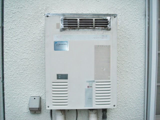 兵庫県 神戸市 西区 戸建て住宅 ノーリツ 24号 ガス給湯器 屋外壁掛け型 取替交換工事 施工