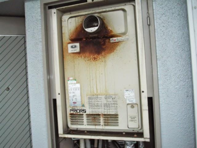兵庫県 尼崎市 マンション ノーリツ 24号 ガス風呂給湯器 セミオート PS扉内設置 前方排気 取替交換工事 施工