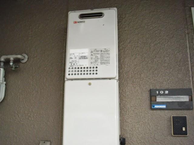 兵庫県 西宮市 ハイツ ノーリツ 16号 ガス給湯器 屋外壁掛け型 取替交換工事 施工
