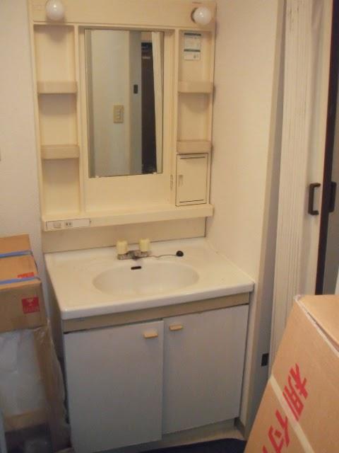 兵庫県 尼崎市 マンション 750サイズ 洗面化粧台 取替交換工事 施工