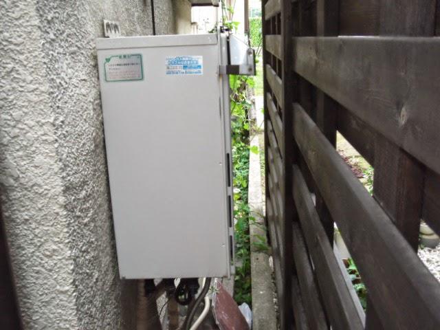 兵庫県 西宮市 戸建て住宅 ノーリツ ガスふろ給湯器 エコジョーズ 屋外壁掛け型 セミオート 取替交換工事 施工