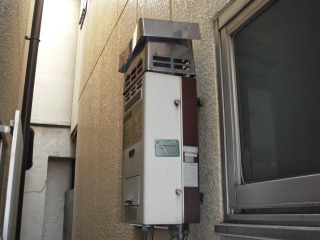 兵庫県 西宮市 戸建て住宅 ノーリツ 16号 ガスふろ給湯器 セミオート 屋外壁掛け型 取替交換工事 施工