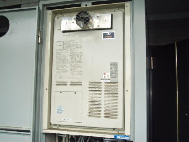 兵庫県 西宮市 マンション リンナイ 24号 ガス温水暖房付き給湯器 フルオート PS扉内設置型 前方排気 取替交換工事 施工