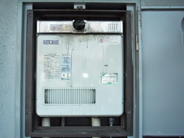 兵庫県 尼崎市 マンション ノーリツ 16号 ガス給湯器 PS扉内設置 前方排気 取替交換工事 施工