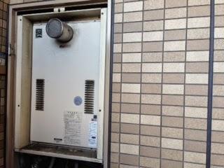 大阪府 大阪市 福島区 マンション ハーマン 24号 ガス温水暖房付き給湯器 高温差し湯 PS扉内設置 前方排気型 取替交換工事 施工
