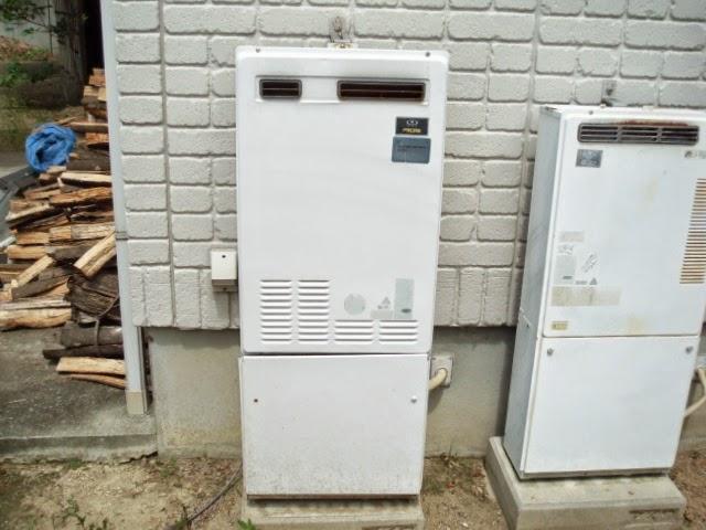 奈良県 奈良市 戸建て住宅 ノーリツ ガス給湯器 24号 屋外壁掛け型 取替交換工事施工