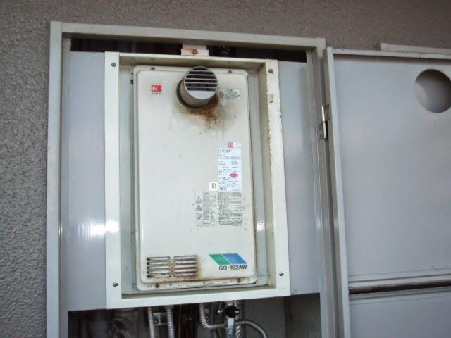 兵庫県 川西市 マンション ノーリツ ガス給湯器 16号 高温水供給方式 PS扉内設置 前方排気 取替交換工事 施工