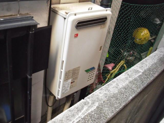兵庫県 西宮市 美容室 ノーリツ 24号 ガス給湯器 屋外壁掛け型 取替交換工事 施工