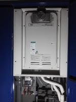 大阪市西区 マンション ノーリツ 16号 PSボックス設置 前方排気型 ガス給湯器 取替 工事(交換)