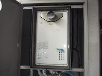 兵庫県尼崎市 マンション ノーリツ 20号 ガス給湯器 高温水供給方式 PS扉内設置 前方排気 取替 工事(交換)