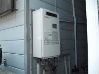 尼崎市 戸建て 屋外設置型 ノーリツ 16号 ガス給湯器 高温差し湯 タイプ  取替工事 交換
