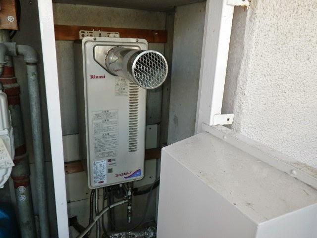 兵庫県 伊丹市 マンション ノーリツ 16号 ガスふろ給湯器 前方排気延長型 セミオート 取替交換工事施工