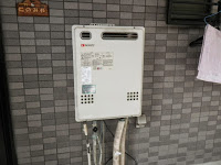 兵庫県 尼崎市 戸建て住宅 ノーリツ 20号 ガス追い焚き付き給湯器 屋外壁掛型 セミオート 取替交換工事 施工