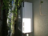 兵庫県 神戸市 長田区 喫茶店 ノーリツ 20号 ガス給湯器 屋外壁掛型 取替交換工事 施工