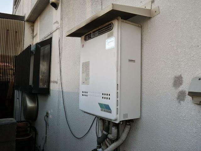 奈良県 北葛城郡 戸建住宅 ノーリツ 20号 ガス風呂給湯器 屋外壁掛型 セミオート 取替交換工事施工