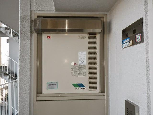 兵庫県 伊丹市 マンション ノーリツ ガス給湯器 PS標準設置形 高温水供給方式 取替交換工事施工