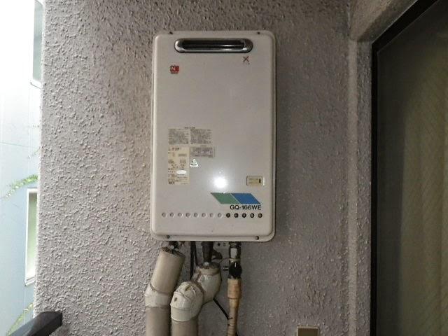 兵庫県 西宮市 マンション ノーリツ 16号 ガス給湯器 屋外壁掛型 取替 交換工事 施工