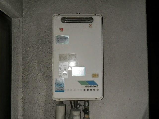 兵庫県 西宮市 マンション ノーリツ 16号 ガス給湯器 屋外壁掛設置型  取替交換工事施工