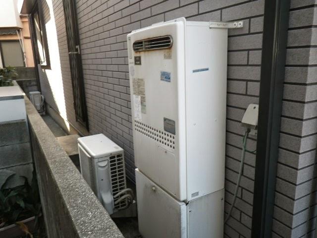 兵庫県 伊丹市 戸建て住宅 ノーリツ 24号 エコジョーズ ガスふろ給湯器 屋外壁掛型 セミオート 取替交換工事施工