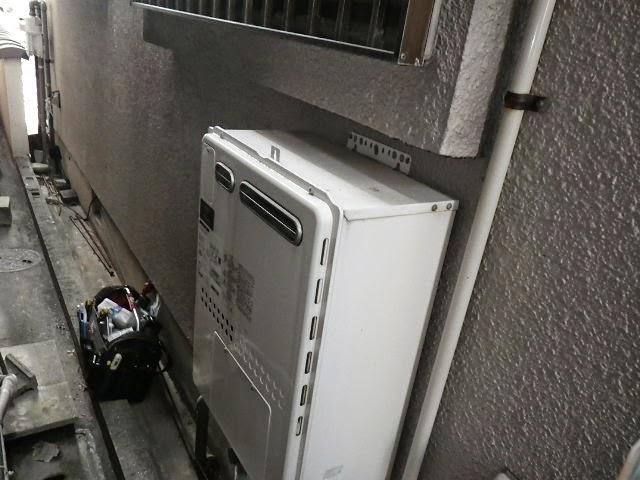 兵庫県 西宮市 戸建て住宅 ノーリツ 24号 ガスふろ給湯器 屋外壁掛型 フルオート 取替交換工事施工
