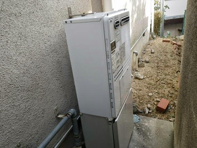 兵庫県 宝塚市 戸建て住宅 ノーリツ 24号 ガスふろ給湯器 屋外壁掛型 セミオートタイプ 取替交換工事施工
