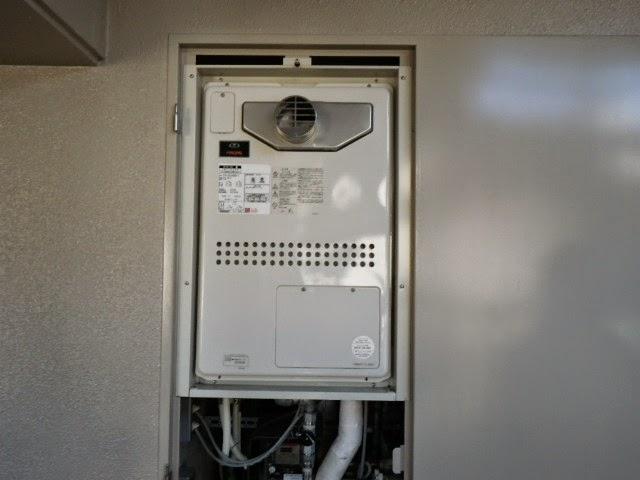 兵庫県 神戸市 灘区 マンション ノーリツ 24号 ガスふろ給湯器 セミオート PS扉内設置 前方排気 取替交換工事施工