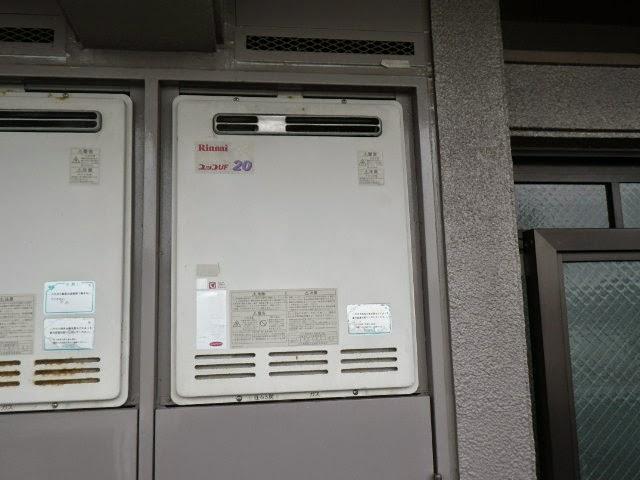 兵庫県 伊丹市 マンション リンナイ 20号 ガスふろ給湯器 セミオート PS標準設置型 取替交換工事施工