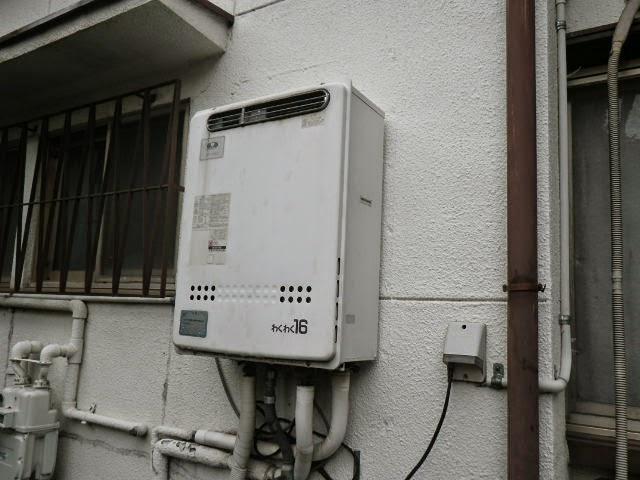 兵庫県 西宮市 戸建て住宅 ノーリツ 16号 ガスふろ給湯器 屋外設置型 セミオート 取替交換工事施工