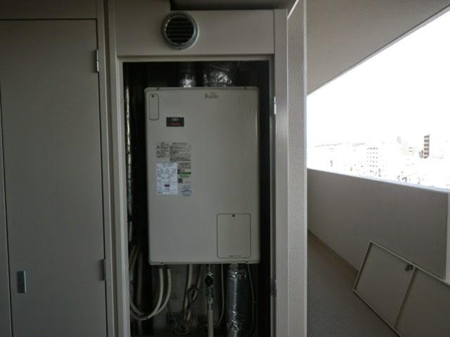 兵庫県 明石市 マンション ノーリツ 24号 ガスふろ給湯器 セミオート 屋内設置型 強制給排気 取替交換工事施工