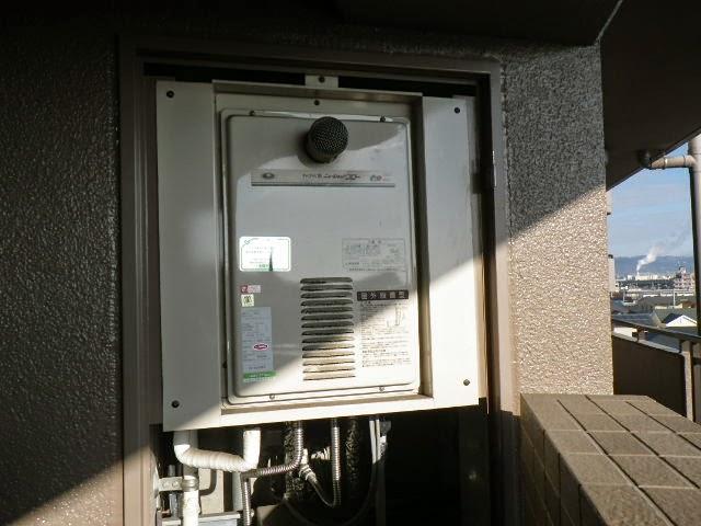 兵庫県 西宮市 マンション リンナイ 16号 ガス給湯器 高温水供給方式 PS 扉内設置 前方排気型 取替交換工事施工