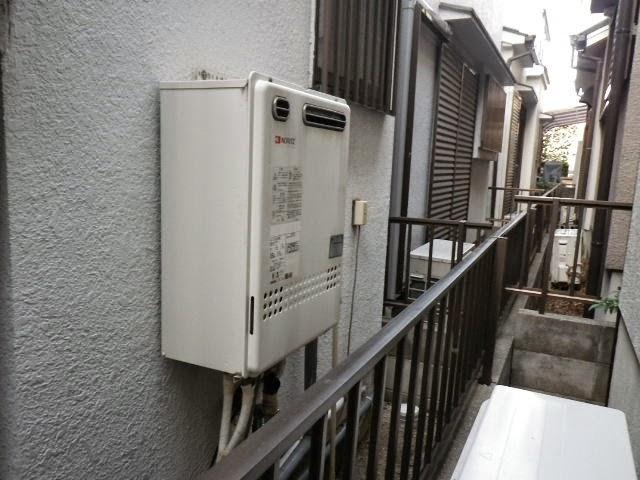兵庫県 伊丹市 戸建て住宅 ノーリツ 24号 ガスふろ給湯器 屋外壁掛型 セミオート 取替交換工事 施工