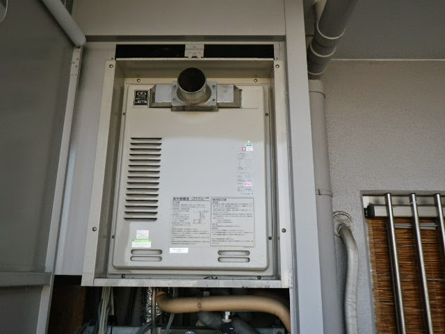 兵庫県 西宮市 マンション ノーリツ 20号 ガス給湯器 高温水供給方式 PS扉内設置型 前方排気 取替交換工事施工