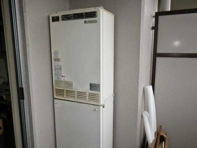 兵庫県 三田市 マンション ノーリツ 16号 ガスふろ給湯器 屋外壁掛型 セミオート 取替交換工事施工