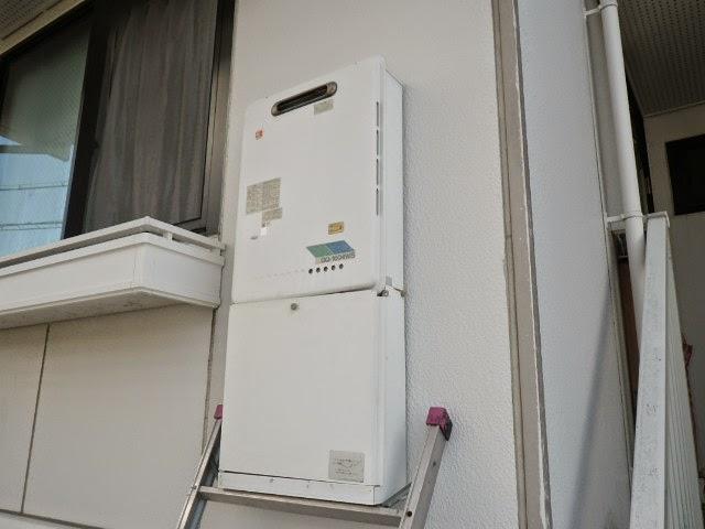 兵庫県 尼崎市 ハイツ ノーリツ 16号 ガス給湯器 屋外壁掛型 取替交換工事施工