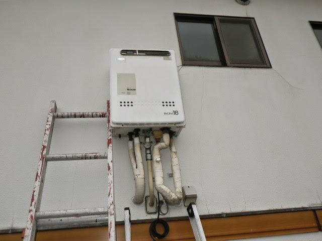 兵庫県 尼崎市 戸建て住宅 ノーリツ 16号 ガスふろ給湯器 屋外壁掛型 セミオートタイプ 取替交換工事施工