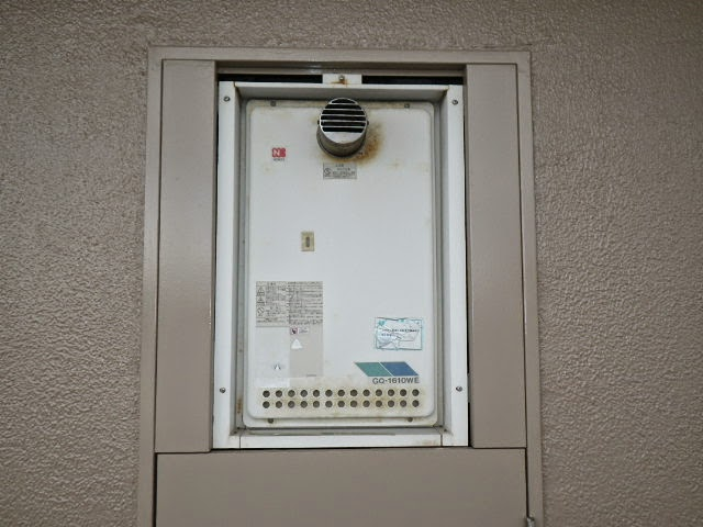 兵庫県 西宮市 マンション ノーリツ 16号 ガス給湯器 前方排気型 取替交換工事施工