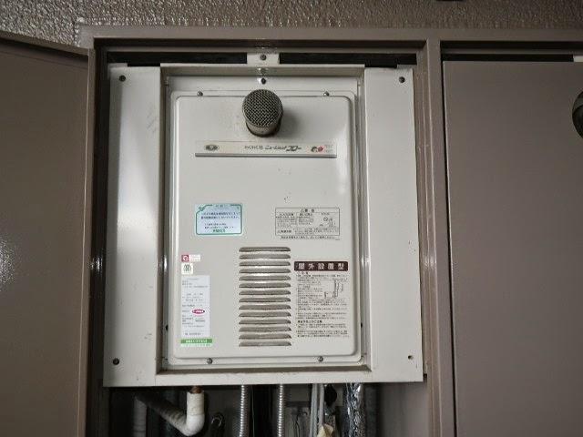 兵庫県西宮市 マンション リンナイ 16号 ガス給湯器 高温水供給方式 PS扉内設置 取替交換工事 施工