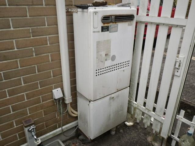 兵庫県 神戸市 北区 戸建て住宅 ノーリツ 24号 エコジョーズ ガス温水暖房付き風呂給湯器 屋外設置型 セミオート 取替交換工事施工