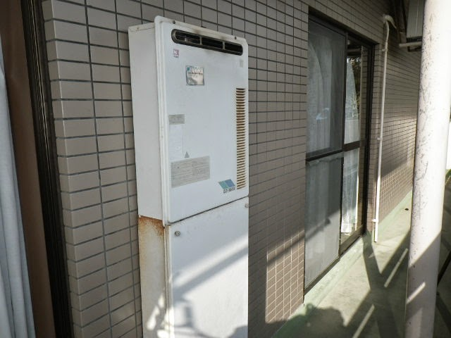 兵庫県 芦屋市 社宅 ノーリツ 16号 ガス風呂給湯器 屋外壁掛設置型 セミオート 取替交換工事施工
